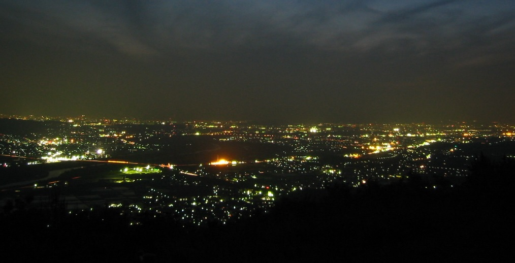 万灯呂山の夜景