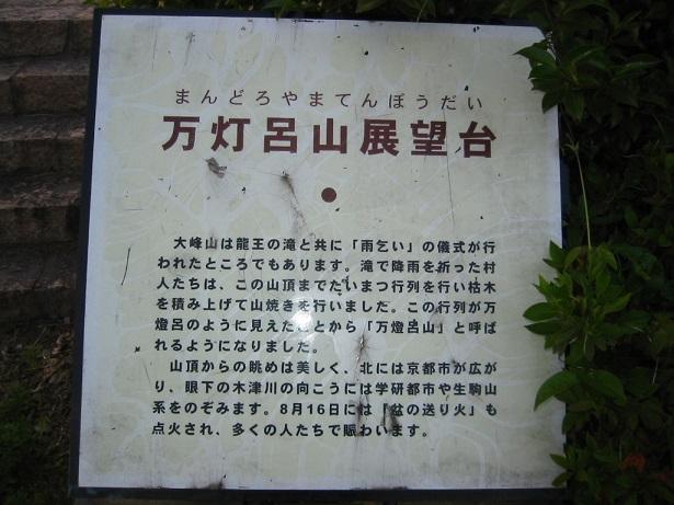 万灯呂山展望台の看板