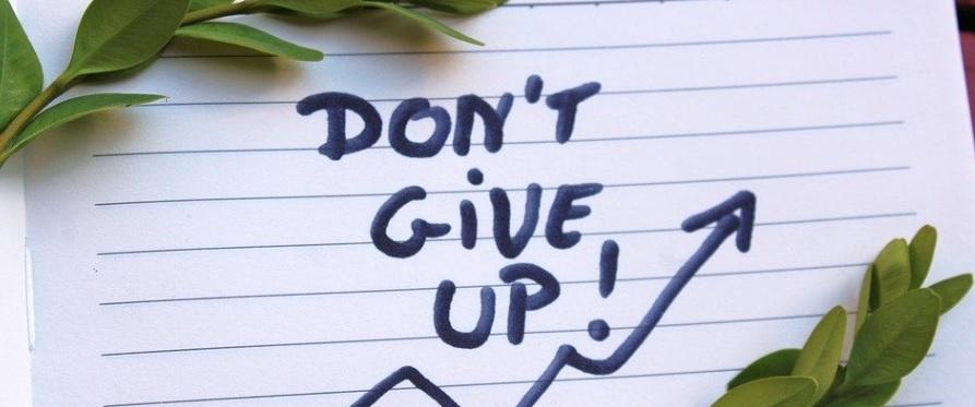 諦めないという意思表示の写真