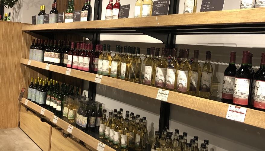 神戸ワイナリーのお土産コーナーのワイン